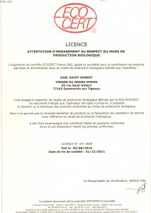 Licence Ecocert